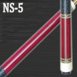 NEW! DELTA NS-5 PURPLE HEART 2 PIECE CUE W/MATCHING JOINT PROTECTORS 19 oz