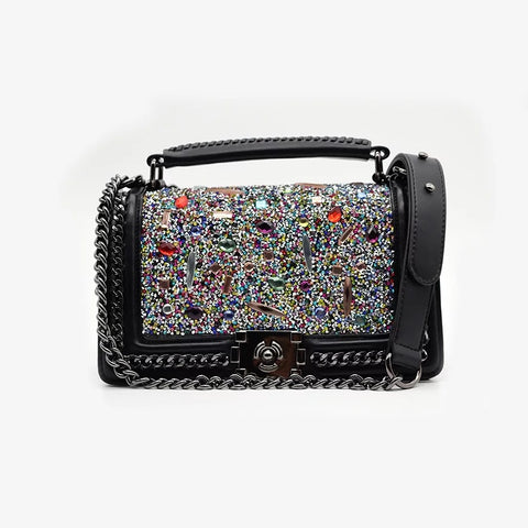 Black Rhinestone Bag