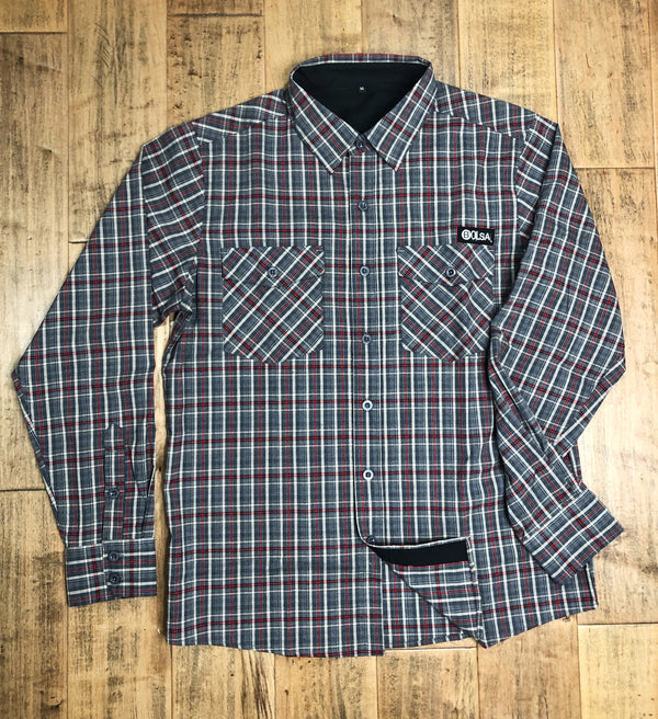 The Redline Flannel - Grey