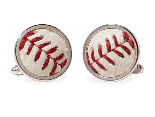 Los Angeles Angels Game Used Baseball Cuff Links