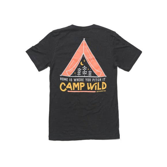 Camp Wild Unisex Tee | Heather Black