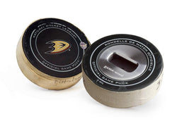 Anaheim Ducks Game Used Puck Bottle Opener