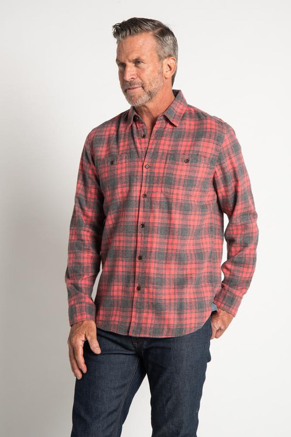 Fire Mountain Checks 2 Pocket Shirt - Red