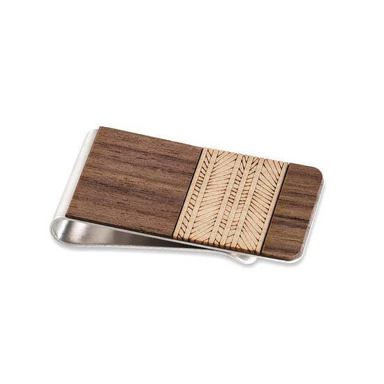 Lines Money Clip