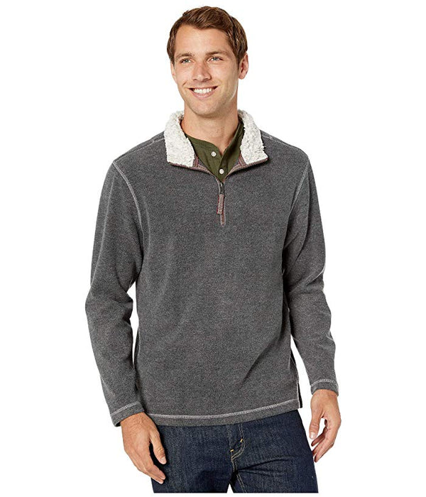 Melange Soft Fleece 1/4 Zip Pullover - Grey