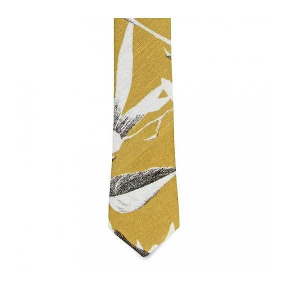 The Odessa Linen Floral Tie
