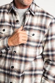 Roadhouse Checks Summit Shirt Jacket - Brown