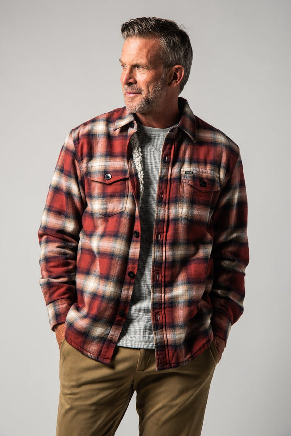 Roadhouse Checks Summit Shirt Jacket - Red