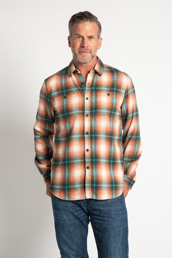 Sundance Plaid 2 Pocket Shirt - Orange