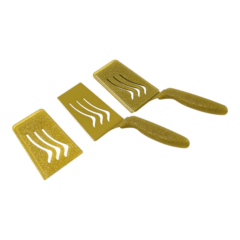Dual Edge Slice & Serve Set of 2-Gold