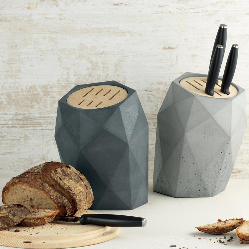 Knife Block Monument Grey