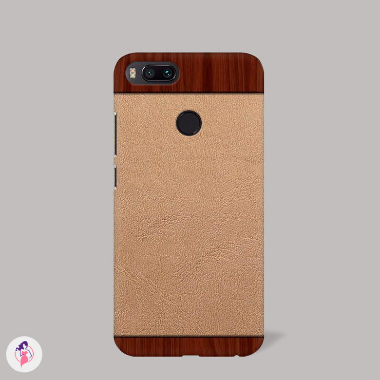 Sophisticated Wooden Textured Mobile Case.