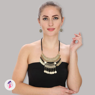 Attractive Tibetan Style Necklace Set