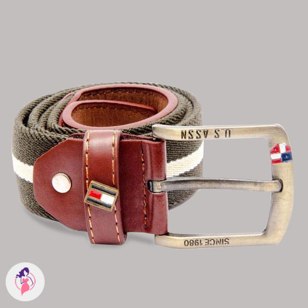 Dark Grey Artificial Leather Belt