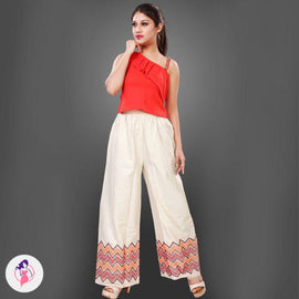 Zigzag Patterned Straight Pant