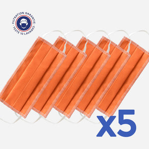 lot de 5 masques couleur orange