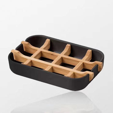 Eco-friendly Bamboo Fiber Soap Holder Dish