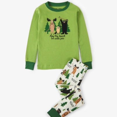 Pyjama pour enfant vert May the forest be with you