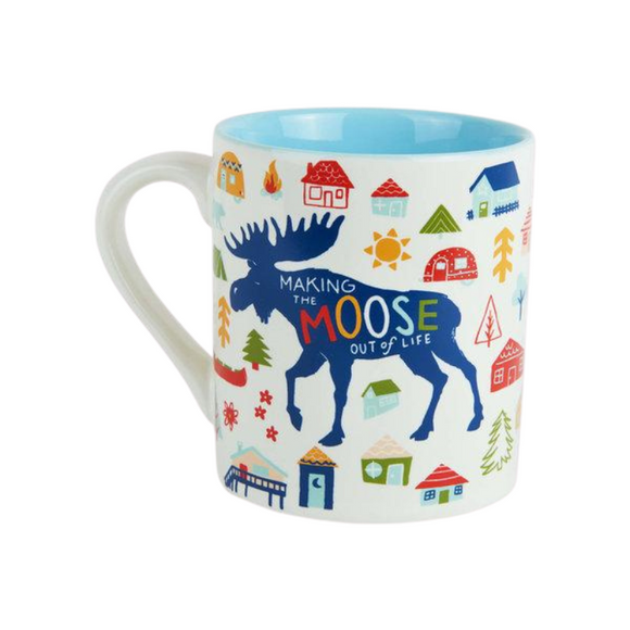 Tasse Classique Making the Moose Out of Life par Petite Maison Bleue
