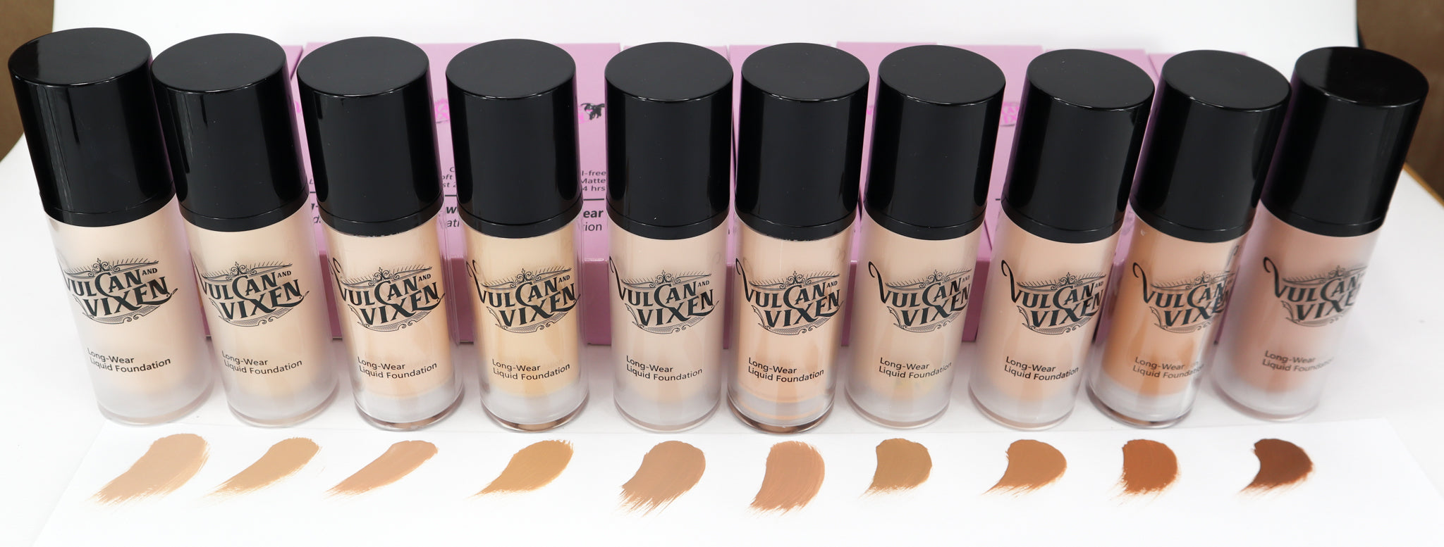 Long Wear Liquid Foundation 10 Shades