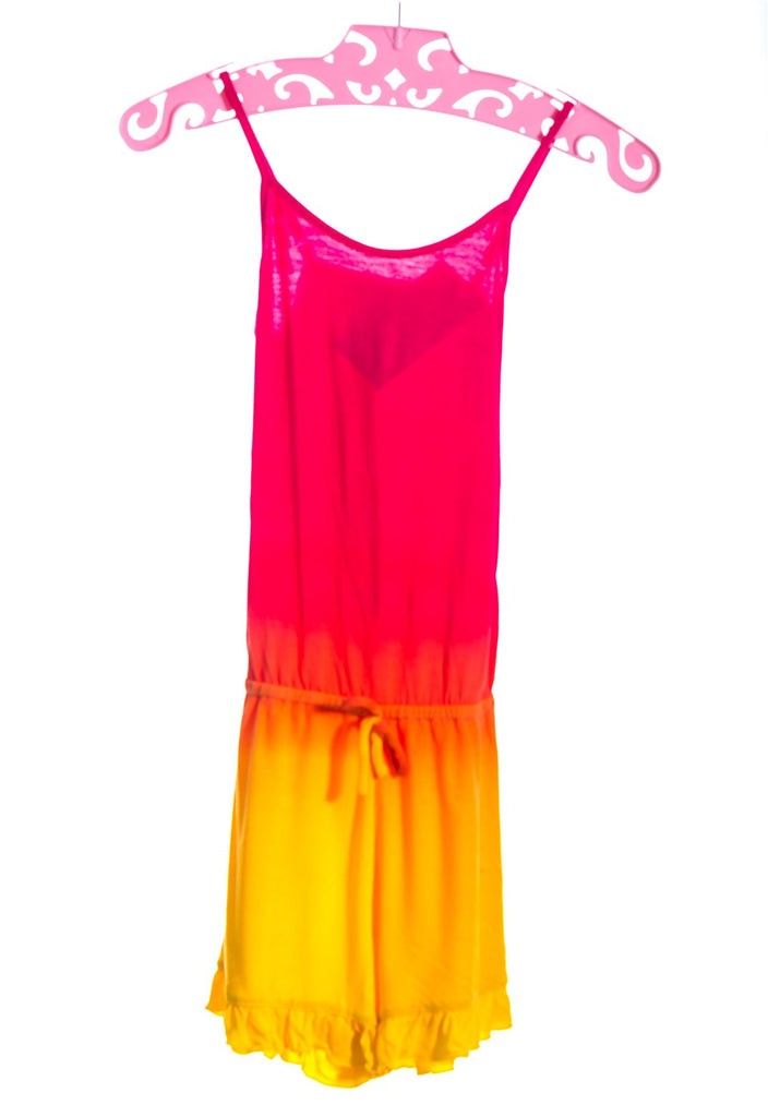 FUSCHIA ORANGE YELLOW ROMPER 1