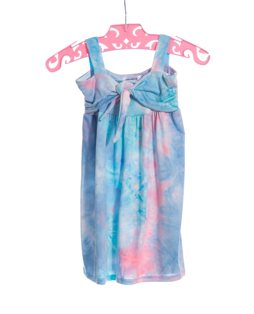 PINK BLUE TIE DYE DRESS
