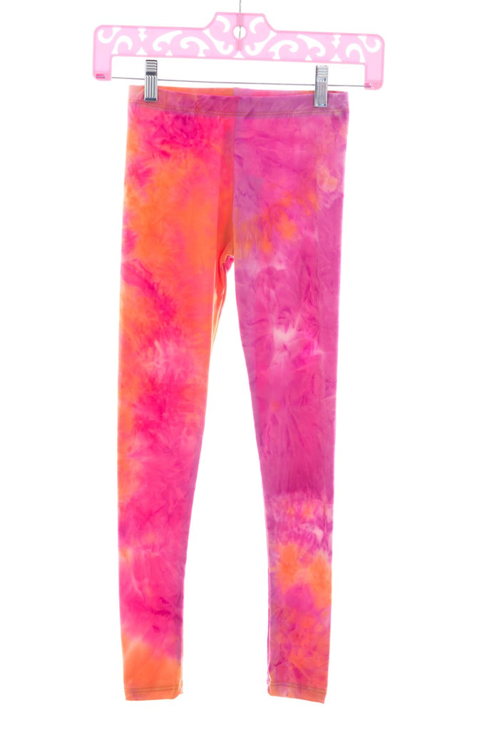 TIE DYE LEGGINGS ORANGE FUCHSIA