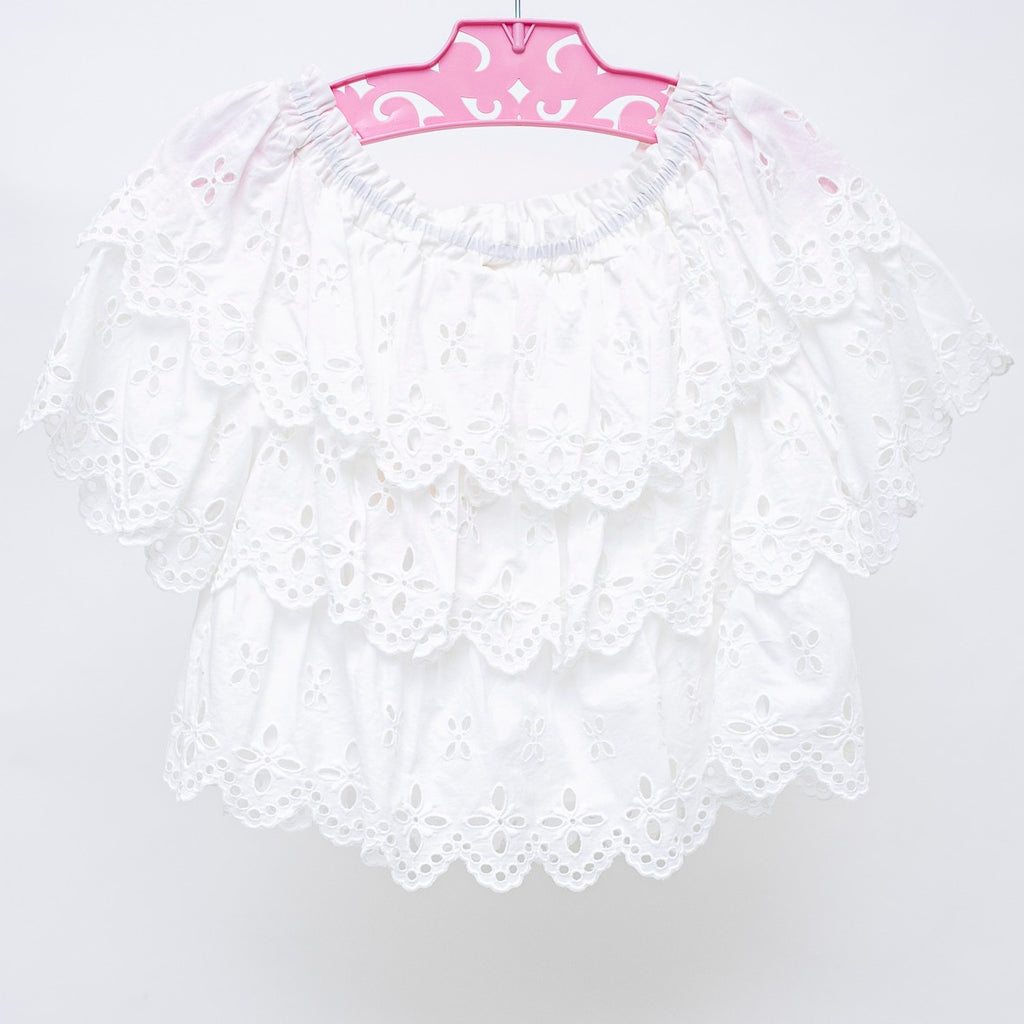 Tween Eyelet Tiered Top