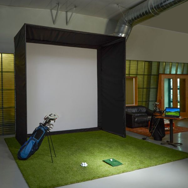 DIY GOLF SIMULATOR ENCLOSURE KIT WITH IMPACT SCREEN