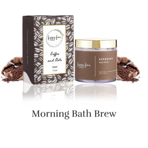 Combo: Espresso Body Scrub & Coffee & Oats Soap