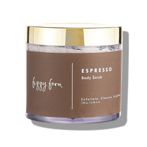 Espresso Body Scrub with Frankincense Oil & Walnut Shell Powder