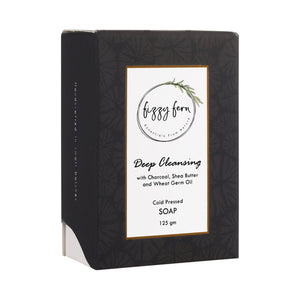 Deep cleansing soap with charcoal, shea butter and wheat germ Oil, 125g