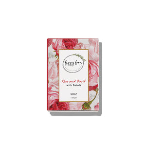 Combo: Rose & Basil Soap with Petals and Himalayan Rose Body Lotion