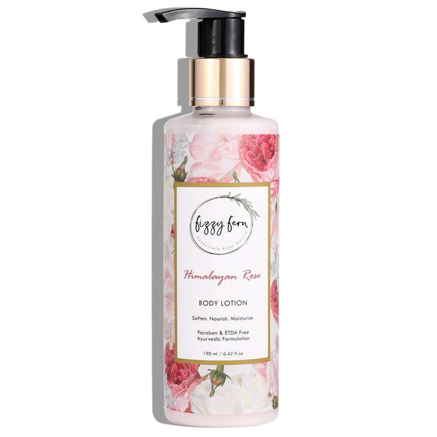 Himalayan Rose Body Lotion, Aloe Vera, Neem & Almond Oil
