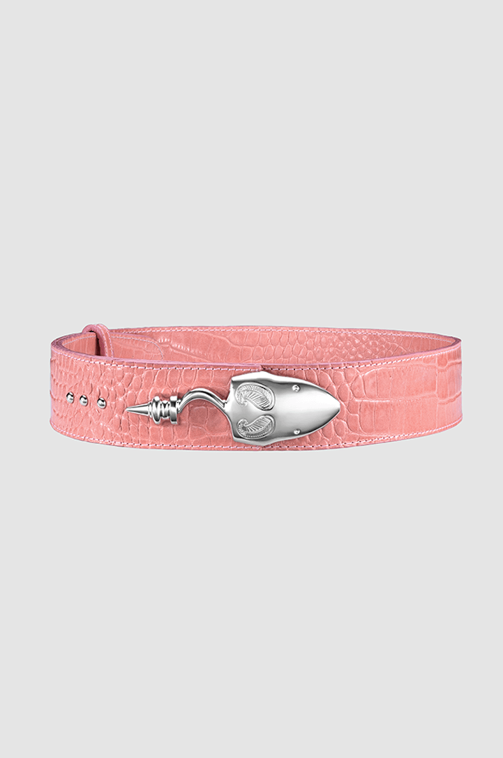 Snake Strich Belt Barbie Crocodile Silver