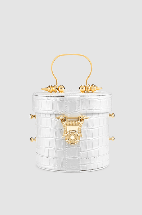 Papyrus Bucket White Crocodile