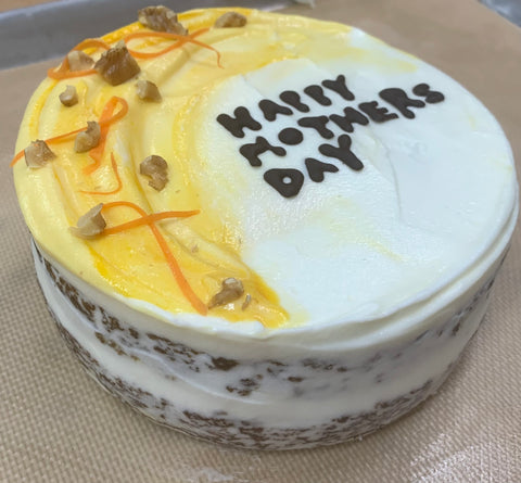 6inch Carrot cake with mango and cream cheese frosting