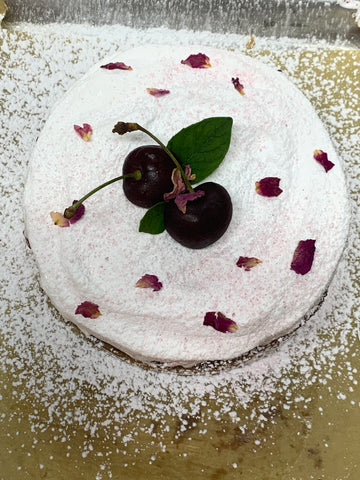 6inch coconut cherry cake so good I made it a permanent part of the menu!