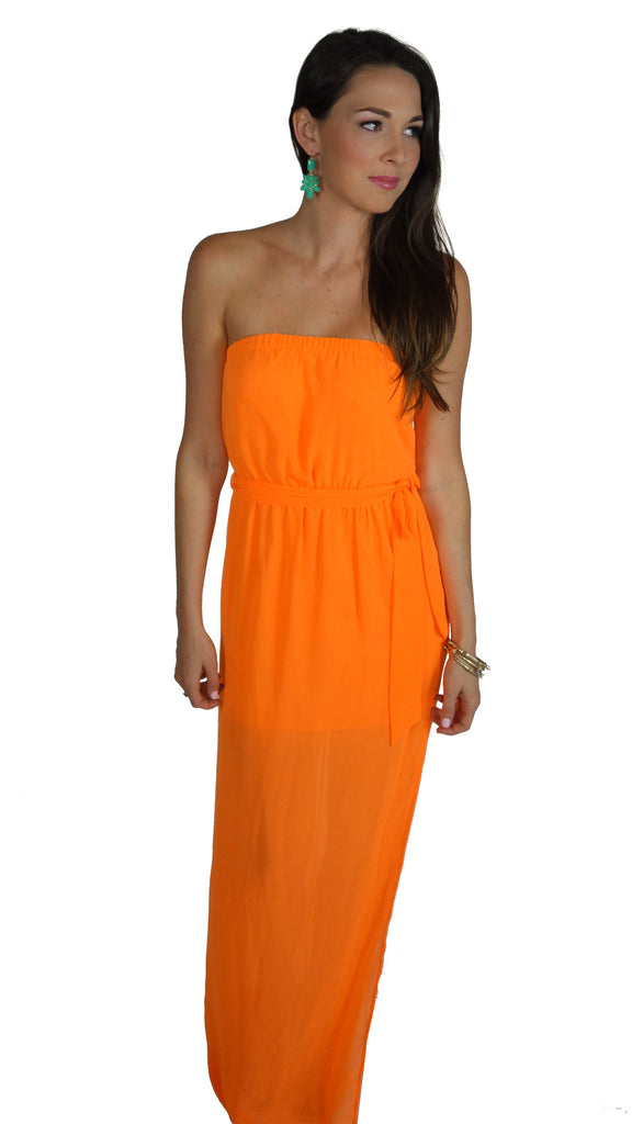 Kiss Me at Sunset Orange Maxi