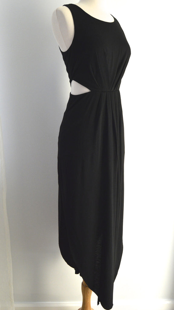 Fashionably Late Black Cutout Dress