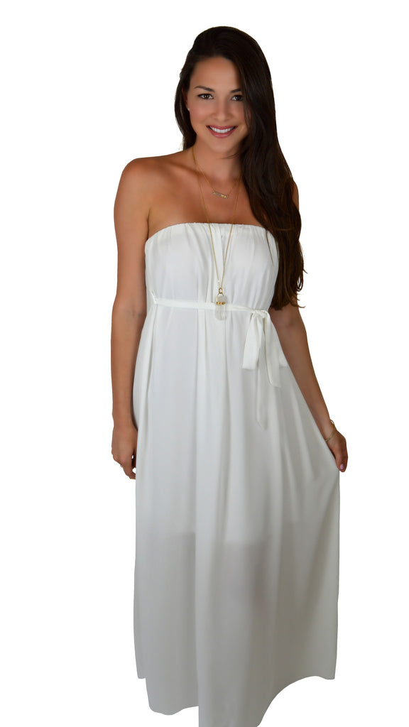 Swept Away Strapless Maxi