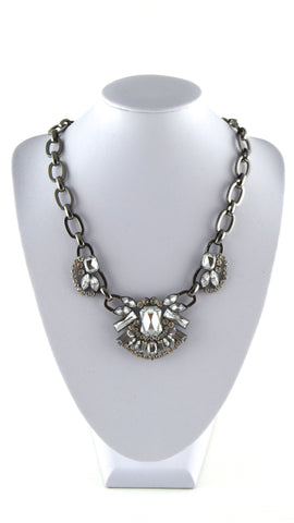 Rock My World Crystal Statement Necklace