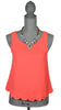 Scallop-Back Neon Coral top