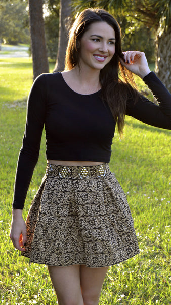 Cheers To Us Sequin Skirt