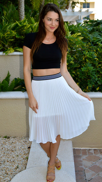 As You Swish Pleated Skirt