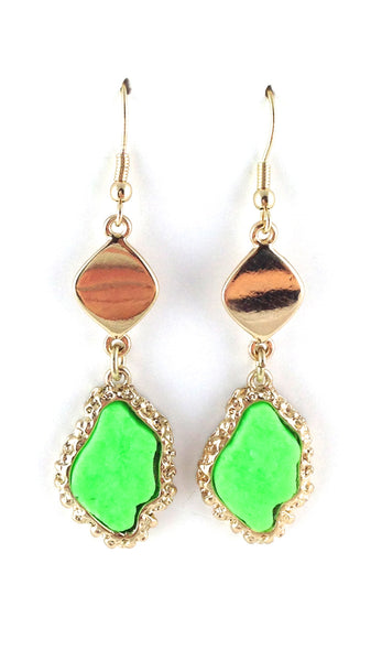 Neon Rock Drop Earrings