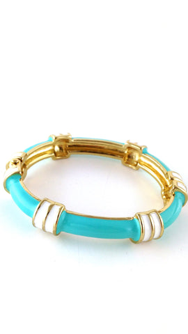 Blue & White Enamel Bangle