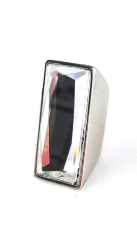 Rectangle Mirror Ring- Silver