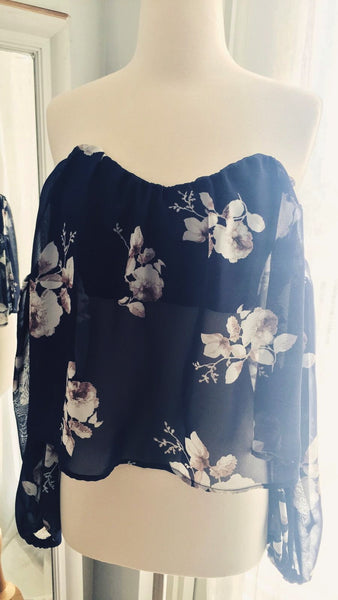 Take Me To Paradise Off Shoulder Floral Top