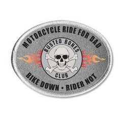 "Busted Bones 5"" Oval Patch - Bike Down Rider Not"